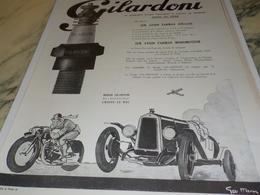 ANCIENNE  PUBLICITE SUR LES AVIONS  BOUGIE GILARDONI   1924 - Vervoer