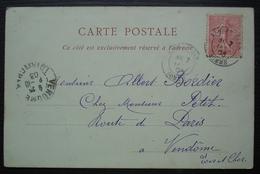 Albert Gare 1903 (Somme) Carte De Lille, Pour Vendôme - Marcofilia (sobres)