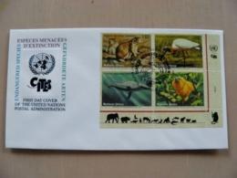 Fdc Cover UN United Nations Geneve Switzerland 1994 Animals Fauna Bird Monkey Whale Rodent - Genf - Büro Der Vereinten Nationen