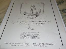 ANCIENNE PUBLICITE QUE LUI OFFRIRAI JE  EVERSHARP 1924 - Otras Colecciones