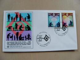Fdc Cover UN United Nations Geneve Switzerland 1994 Year Of Family - Genf - Büro Der Vereinten Nationen