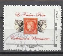 Montimbramoi : Oblitéré.Collection Et Patrimoine. Lettre Prioritaire 50g. - Personalisiert (MonTimbraMoi)