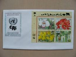 Fdc Cover UN United Nations Geneve Switzerland 1996 Flora Flowers Plants - Genf - Büro Der Vereinten Nationen