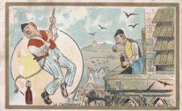 CHROMO CHICOREE EXTRA A LA BELLE JARDINIERE C. BERIOT LILLE  LE CARILLONNEUR EN HAUT DU CLOCHER - Cromo