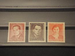 POLONIA - 1952 RITRATTI 3 VALORI - NUOVI(+) - Neufs