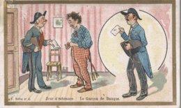 CHROMO CHICOREE EXTRA A LA BELLE JARDINIERE C. BERIOT LILLE  JOUR D'ECHEANCE LE GARCON DE BANQUE - Cromo