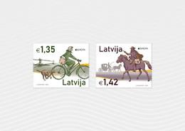 Latvia.2020.Europa CEPT.Ancient Postal Routes.2 V. ** . - 2019