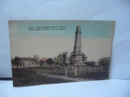 7461 . BACCARAT 54 MEURTHE ET MOSELLE MONUMENT DE 1870 ET LE KIOSQUE CPA ETABLISSEMENT C LARDIER BESANÇON - Baccarat
