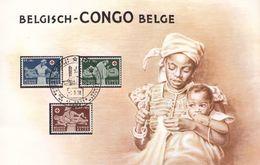 Croix Rouge - Congo Belge - Document De 1958 - Infirmières - Valeur 10,90 Euros - Belgisch-Kongo