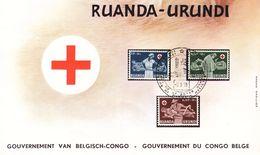 Croix Rouge - Ruanda Urundi - Document De 1958 - Infirmières - Valeur 28,35 Euros - Ruanda-Urundi