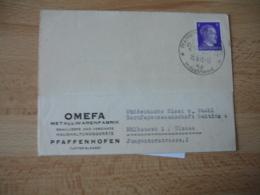 Occupation Alsace Guerre 39.45 Pfaffenhofen 1943 Industricort Cachet Illustre - Marcofilie (Brieven)