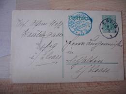 1909 Lot De 2 Epfig  Dont 1 Avec Cachet Censure Strasburh Els  P K OCCUPATION ALSACE - Postmark Collection (Covers)