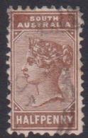 Australia South Australia SG 182 1883 Half Penny Chocolate,used - 1855-1912 South Australia