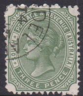 Australia South Australia SG 255 1899 3d Dark Olive Green,used - 1855-1912 South Australia