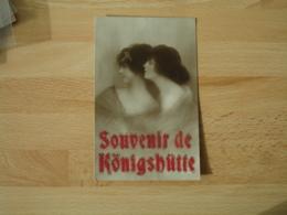 Carte Avec Ajout  Souvenir Konigshutte Portrait Femme - Germany