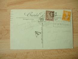 Lettre Taxee  10 C Chiffre Taxe Obliteration Petit Cercle XIII - Lettere Tassate