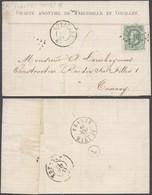"""émission 1869 - N°30 Sur LAC Obl Pt 91 çàd Couillet > Tournay + Ambulant """"France / Midi IV"""" - 1869-1883 Leopoldo II"""