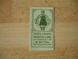 Erinnophilie  Ausstellung 1911 In Wattwil     Vignette Timbre - Germany