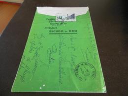 17-8-64 ANDORRE LA VIEILLE PUBLICITE POSTALES ESCUDO DE ORO - Marcofilie - EMA (Printmachine)