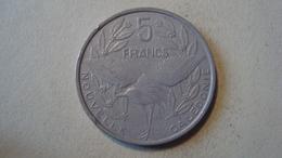 MONNAIE NOUVELLE CALEDONIE 5 FRANCS 1992 - New Caledonia
