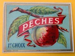 13920 - Pêches 1er Choix Ancienne étiquette - Etiquettes