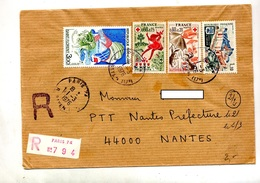 Lettre Recommandée Paris 74 Sur Croix Rouge Sedan - Marcophilie (Lettres)