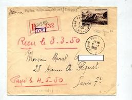 Lettre Recommandée Paris 68 Sur Jonc - Marcophilie (Lettres)