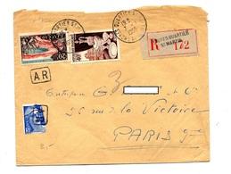 Lettre Recommandée Troyes Sur Porcelaine Ajaccio Gandon - Marcophilie (Lettres)