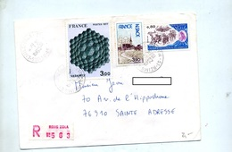 Lettre Recommandée Reims Zola Sur Vasarely Alsace Cambresis - Marcophilie (Lettres)