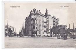 CPA Old Pc Pologne Varsovie Aleja Szucha - Polen