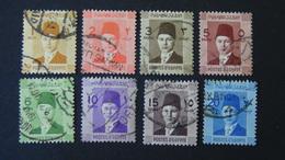 Egypt - 1937 - Mi:EG 223-225,227-229,231,232 - Yt:EG 187-189,191-192,194,195 O - Look Scan - Used Stamps