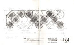 3 Calques A3 De Dessins D'Architecte D'intérieur Aménagement Bar, Restaurant & Commerce Avec Légendes C. Uebel - Architecture