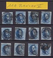 LOT N° 11  A Margés Planche V  Dont  Varietes 99 Et 169 , Retouche , .. - 1858-1862 Medallions (9/12)