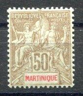 RC 17268 MARTINIQUE COTE 50€ N° 49 TYPE GROUPE TIRAGE 10200 Ex NEUF * MH ( VOIR DESCRIPTION ) - Unused Stamps
