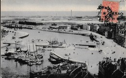 Dunkerque Vue Générale Du Port ( Carte Bleutée , Place Du Minck , écluses, Bassin Du Commerce , Cale Des Pêceurs... - Dunkerque