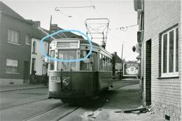PHOTO   Rue De Bouvy   LA LOUVIERE  TRAM 37 Pour Bois Du Luc  REPRO - Tramways