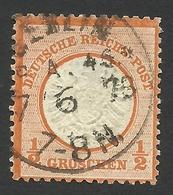 Germany, 1/2 Gr. 1872, Sc # 16, Mi # 18, Used, Berlin - Allemagne