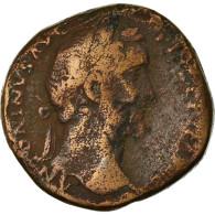 Monnaie, Antonin Le Pieux, Sesterce, 155-156, Roma, TB, Bronze - 3. Die Antoninische Dynastie (96 / 192)