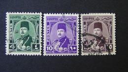 Egypt - 1945 - Mi:EG 271,273,274 Sn:EG 245,247,248 Yt:EG 226,228,229 O - Look Scan - Egypt