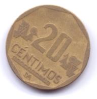 PERU 2002: 20 Centimos, KM 306 - Peru