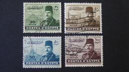 Egypt - 1947 - Mi:EG 319-322 Sn:EG 267-269,269a Yt:EG 256-259 O - Look Scan - Egypt