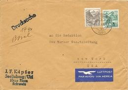 Schweiz, 13.2.1943, Drucksache, Luftpost, Seelisberg Nach New York, Siehe Scans! - Switzerland