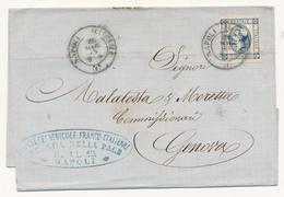 1863 VINO ENOLOGIA  NAPOLI SOCIETA' VINICOLE FRANCO ITALIANE - 1861-78 Vittorio Emanuele II