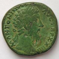 Marc Aurèle, Marcus Aurelius, Sesterce, R/ SALVTI AVG COS III SC, TB - 3. Die Antoninische Dynastie (96 / 192)