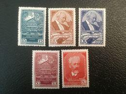 RUSSIE RUSSIA URSS 1940 - 100e Anniversaire Naissance Tchaikovsky- Série Complète De 5 Valeurs MH - Cf Scan - Ongebruikt