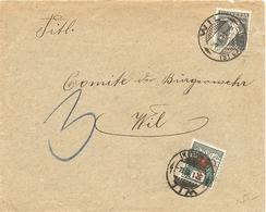 Schweiz, 26.1.1919, Brief, Will Lokal, Strafporto 3 Rp. Siehe Scans! - Switzerland