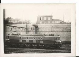 Photo -  Tramway - Locomotive - Gare à Locliser - Trains