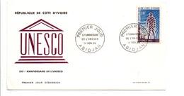 COTE D'IVOIRE FDC 1966 20 ANS UNESCO - Ivory Coast (1960-...)