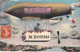 """27 - LOUVIERS : Amitié De Louviers ( Parodie De Dirigeable ) - Jolie CPA Fantaisie Illustrée Colorisée """"vernie""""- Eure - Louviers"""