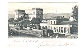 SICILE ACIREALE Stazione E  Castello Medioevale  Trains  Locomotives - Acireale